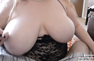 BBW With Big Tits Sucking &amp_ Stroking Cock &amp_ Edging To Cumshot in Mouth