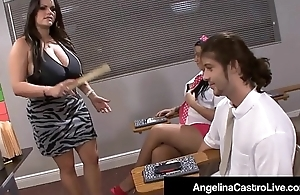 Latina Teacher Angelina Castro Forces Student To Wack A Cock