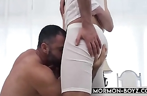 Hairy Daddy Takes Two Cocks In Threesome - MORMON-BOYZ.COM