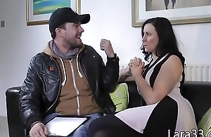 UK mature jizzed on asshole inhibition doggystyled