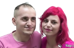 Romanian couple gets level with on for the cameras at FAKings