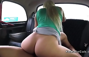 Big ass blonde cab driver fucks