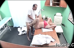Hot doctor cums inside fake hospital