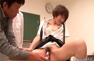 Akina Hara'_s teacher gives her some special sexual lessons in class