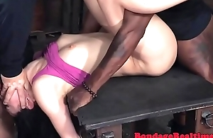 Bound submissive pussyfucked and throated