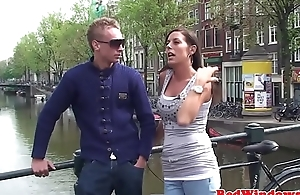 Real dutch prostitute squirted with warm cum