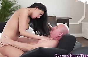 Teen cummed with old rod