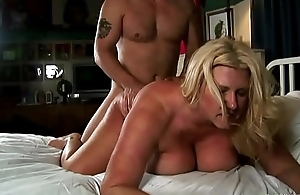 Beautiful chubby tits blonde old spunker enjoys a sticky facial cumshot
