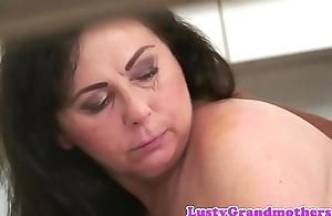 Busty gilf doggystyled by black cock