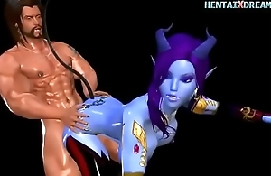 Blue Anime Chick - Uncensored At WWW.HENTAIXDREAM.COM
