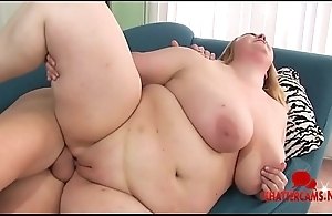 BBW Blonde Babe Sucks and Fucks Cock