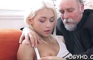 Juvenile sweetie screwed by old lover