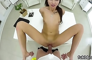 Wacky girl pleasures vagina and gets licked and penetrated in pov
