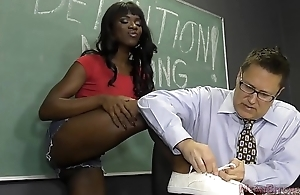 Black Student Seduces Their way Teacher Into Becoming Their way Slave- Ana Foxxx Femdom